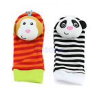 Multi shape Soft Toy Animal Baby Infant Kids Hand Wrist Bells Foot Sock Rattles