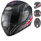 Shox Axxis Identity Motorcycle Matt Black Helmet Motorbike Full Face Bike Crash