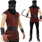 Mens Executioner Medieval Fancy Dress Costume Dungeon Master Halloween Outfit