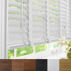 NEW MADE TO MEASURE 50MM WOODEN VENETIAN BLINDS WITH TAPES OR STRING - REAL WOOD