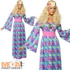 Flower Child Hippie 60s-70s Ladies Fancy Dress Party Costume Hippy Adult Outfit