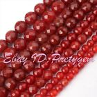 "Round Agate Onyx Faceted Gemstone Beads Strand 15"" 6,8,10mm For Jewelry Making"