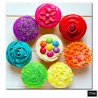 Food Kitchen Cupcakes colour  BOX FRAMED CANVAS ART Picture HDR 280gsm
