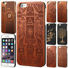 """For Apple iPhone 6 6S Plus 5.5"""" Hard Wood Back Protector Slim Case Snap On Cover"""