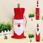 1pc Christmas Santa Suit Costume Wine Bottle Gift Bag Wrapping Cover Pouch Sack