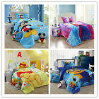 Cartoon Single Size Bed Quilt/Doona Cover Set New Warm Soft Flannel Duvet Covers