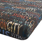 Catherine Lansfield Home City Life Fitted Sheet, Multi