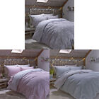 Catherine Lansfield Home Brushed Polka 100% Cotton Flannelette Duvet Cover Set
