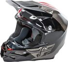 NEW FLY RACING F2 PURE CARBON ECE MX DIRT BIKE HELMET WHITE/BLACK/GRAY ALL SIZES