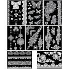 BMC 8 Sheet Set Lace Henna Inspired Black White or Brown Temporary Body Tattoos