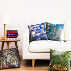 Van Gogh Colorful Painting Flowers & Trees Pillow Case Cushion Cover Square 18""