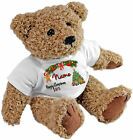 PERSONALISED SPECIAL OCCASION TEDDY BEAR - GIRLS NAME HAPPY XMAS 2015 DESIGN