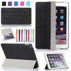 Stand Flip Leather Case Cover for iPad Air 2 + Slim Wireless Bluetooth Keyboard