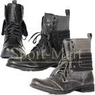Mens Soulstar Combat Lace up Ankle Boots Hi Top Military Cadet Shoes Size