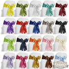 10 Satin Chair Cover Bow Sashes Wedding Party Decoration