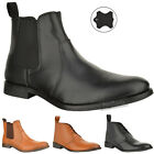 MENS REAL LEATHER CHELSEA CHUKKA LACE SLIP FORMAL ANKLE BOOTS SHOES UK 6 & 7