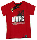 Official Manchester United Football Club 'MUFC' T Shirt Red 2 to 13 Years BNWT
