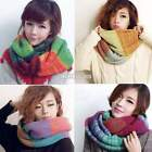 Winter Knitted Neck Circle Cowl Wool Warm Scarf Shawl Wrap Loop Collar New S0BZ