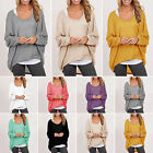 Women Plus Size Long Sleeve Pullover Ladies Casual Loose Baggy Blouse Top Jumper