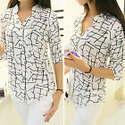 CHIC Fashion Polyester Floral Print T Shirt Blouse Long Sleeve Women Tops Casual