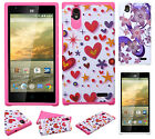 For ZTE WARP ELITE N9518 HARD Hybrid Rubber Silicone Case Phone Cover Accessory