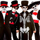 Day of the Dead Boys Fancy Dress Halloween Skeleton Kids Childrens Costumes New