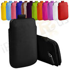 Large Premium PU Leather Pull Tab Case Cover Pouch For HTC Raider 4G