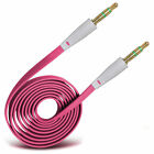 Gold Plated Jack To Jack Flat Aux Audio Cable For Microsoft Lumia 435
