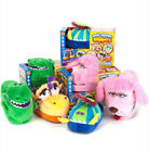 NEW STOMPEEZ KIDS ANIMATED SLIPPERS COZY SOFT ANIMAL GIFT FUN WALK STOMP JUMP