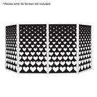 Equinox Heart Style Design Lycra DJ Screen Four Pack Wedding Valentines Party