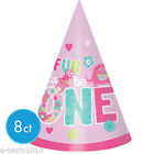 1st BIRTHDAY One Wild Girl CONE HATS (8) ~ Party Supplies Wearable Decorations