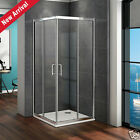 Sliding door walk in shower enclosure 6mm glass corner entry cubicle stone tray