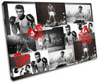 Ali Boxing Gloves Iconic Celebrities CANVAS WALL ART Picture Print VA