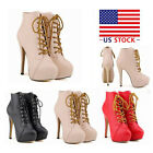 Women High Heels Stiletto Ankle Boots Shoes Fashion personality Punk Strap Shoes