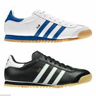 NEW ADIDAS ORIGINAL ROM MENS TRAINERS SHOES RETRO LEATHER ALL SIZES BLACK WHITE