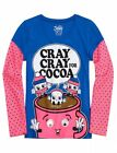 NWT Justice Girls Cray Cray For Cocoa Googly Christmas Tee Top U Pick Size NEW