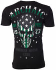 ARCHAIC by AFFLICTION Men T-Shirt SMASHER American Customs USA FLAG Biker $40 image