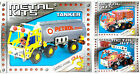 Kids DIY Metal Fire Engine Model Construction Toy Kit Meccano Copy Truck 6+ New