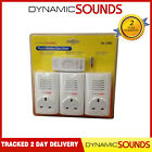 Triple Plug in Wireless Cordless Door Bell Chime Mains Socket UP TO 80M Range