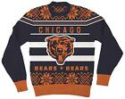 NFL Chicago Bears Logo Adult Navy Football Ugly Christmas Sweater