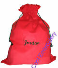 Personalised Big Corduroy Santa Sack bag 66cmx50cm with GATHERS  *COLOUR CHOICE