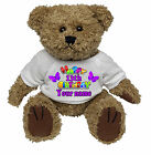 PERSONALISED TEDDY BEAR 11th - 17TH BIRTHDAY BUTTERFLY DESIGN -  ANY NAME