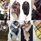 Women Lady Winter Scarf Cashmere Long Scarf Wrap Shawl Plaid Knit Scarf Pashmina