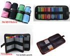 Color Canvas Pencils Pens Holder Pouch Wrap Bag Case With 36/48/72 Pcs Holes*