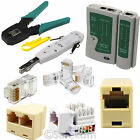 RJ45 RJ11 Ethernet Cable Tester Crimping Tool Coupler Connector Network LAN Kit