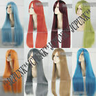 "80CM/32"" Long Cosplay Fashion Full Wig Straight Hair heat resistant 30colors"