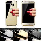 Luxury Ultra-thin Mirror Metal Case Cover for iPhone 5s 6 plus Samsung S5 S6edge