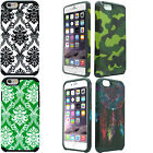 For Apple iPhone 6 6S HARD Protector Hybrid Rubber Silicone Case Phone Cover