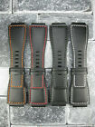 New 24mm Bell  Ross Calf Leather Strap Black Watch Band BR 01 BR 03 X1