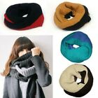 Women's Winter Warm Infinity 2Circle Cable Knit Cowl Neck VERY Long Scarf Shawl